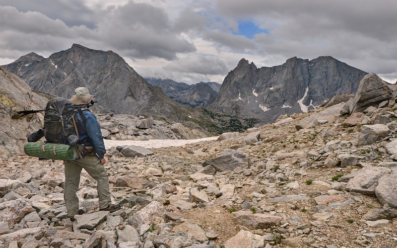 Texas Pass, Looking Back at the Cirque of Towers