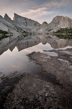 The Lost Temple Spire, East Temple, and Temple Peak Reflected in Deep Lake