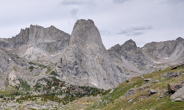 Wolf's Head and Pingora Peak (L-R)