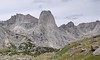 Wolf's Head and Pingora Peak (L-R)