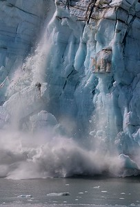Calving on the Margarie Glacier