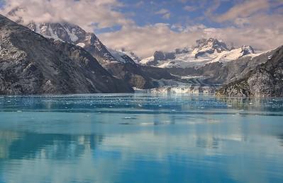 Johns Hopkins Glacier and Mount Orville (10,495')