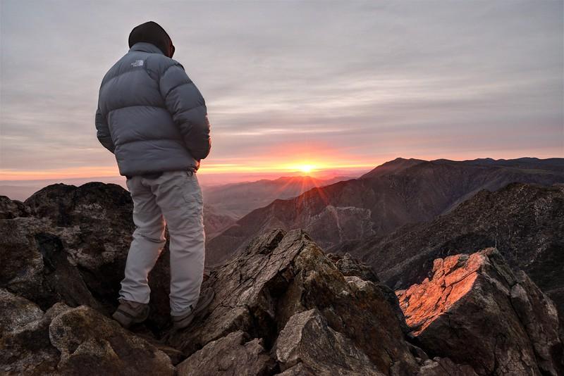 Chilly Sunrise over Monument Peak