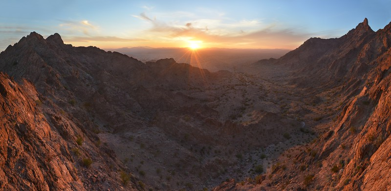 Mohawk Valley Sunset Panorama