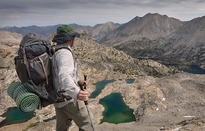 The Rae Lakes Basin From Glen Pass