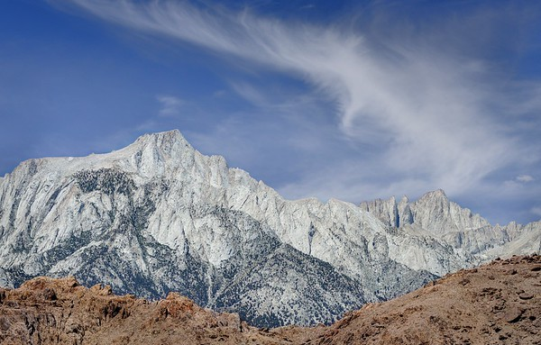 Lone Pine Peak (L) and Mount Whitney (R)