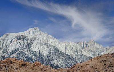 Lone Pine Peak (L) and Mount Whitney (R)