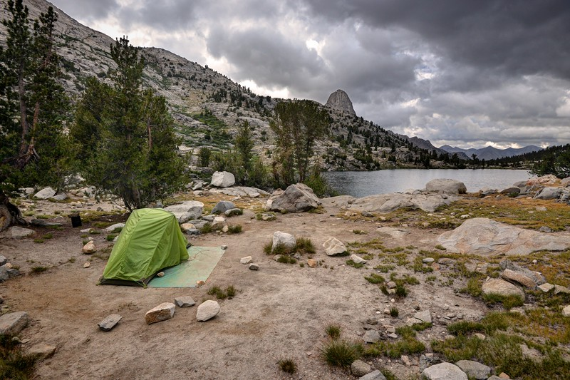 My Camp at Rae Lakes