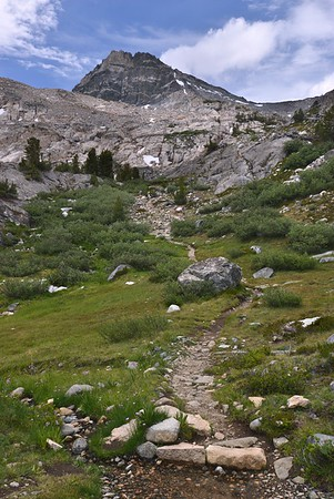 Trail Toward Glen Pass From Rae Lakes