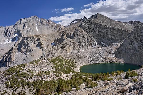 Big Pothole Lake and University Peak