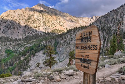 Forest Service Sign and Independence Peak
