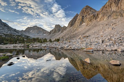 Morning Reflections in the Kearsarge Lakes