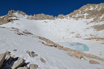 Frozen Upper Stanford Lake
