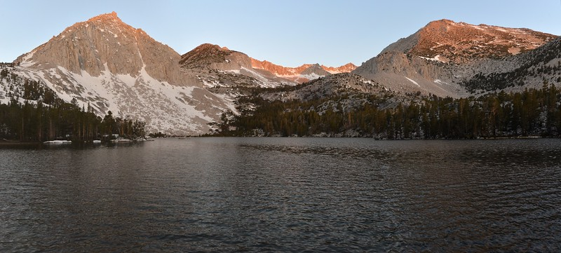 Cloudless Sunrise Pano at Lake #1