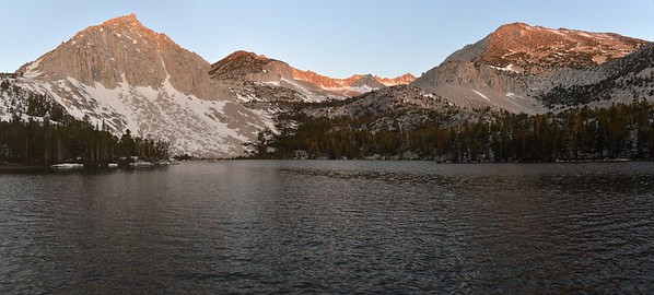 Cloudless Sunrise Pano at Lake #1