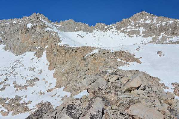 Mount Stanford (R) and the Sierra Crest