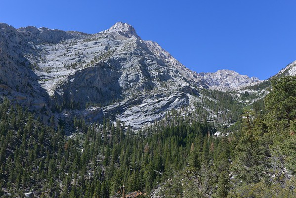 Massive Lone Pine Peak From Lower Meysan Creek