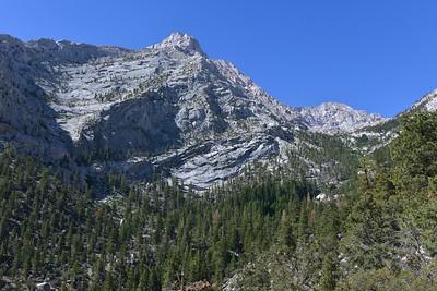 Massive Lone Pine Peak From Lower Meysan Creek