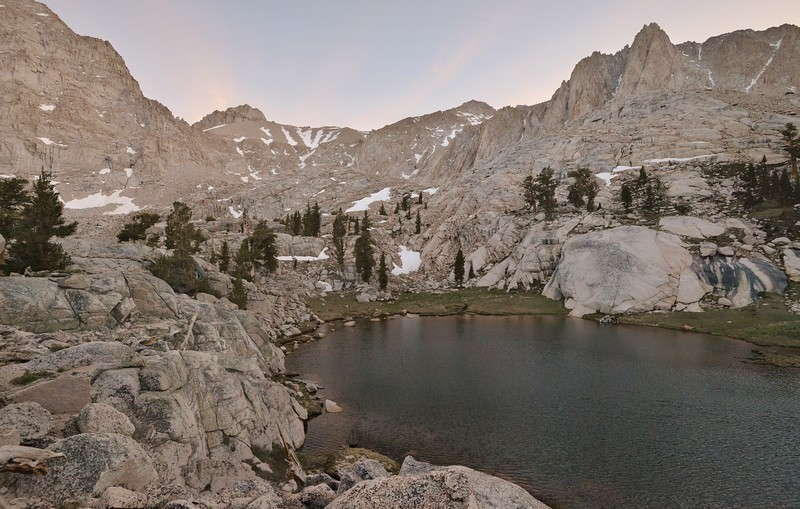 Camp Lake and Mount Irvine (R)