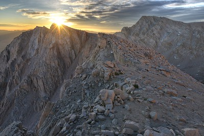 Candlelight Peak (L) and Lone Pine Peak (R)