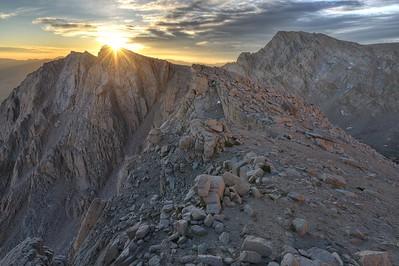 Candlelight Peak (L) and Lone Pine Peak (R)