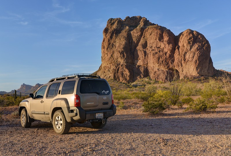 Xterra and Courthouse Rock