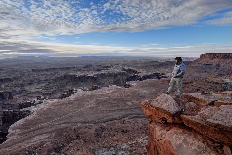 Self Portrait over the White Rim