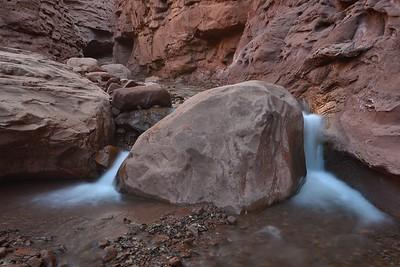 Fallen Chockstone in Professor Creek