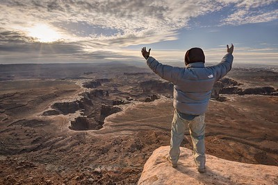 Enjoying the View Over the White Rim