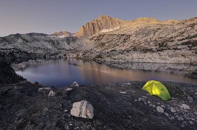 Camp Above Steelhead Lake