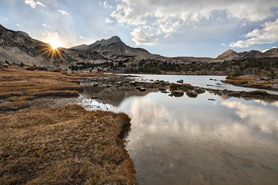 Sunset Over North Peak and Greenstone Lake