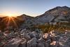 Sunset Over Lassen Peak's Shoulder