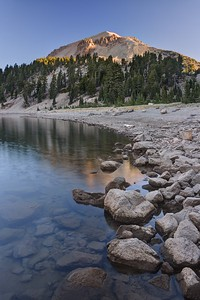 Lassen Peak and Lake Helen