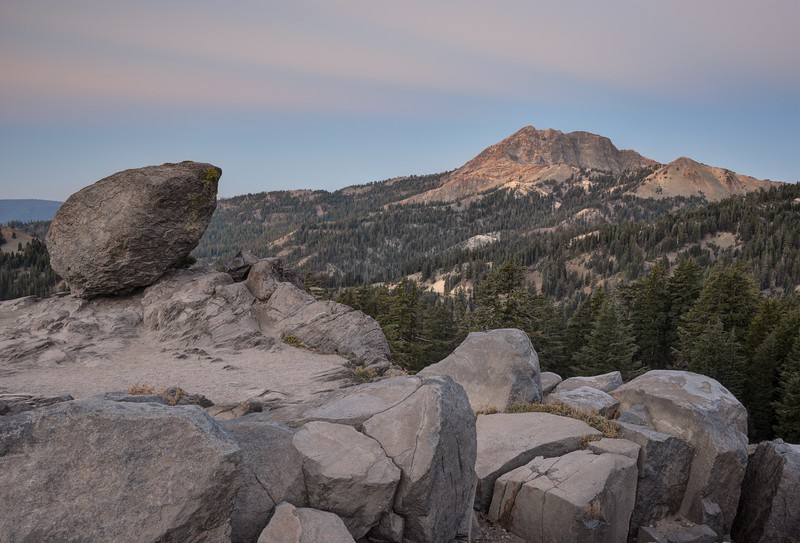 Brokeoff Mountain and a Glacial Erratic