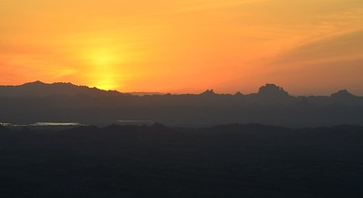 Sunset With Picacho Peak in the Distance