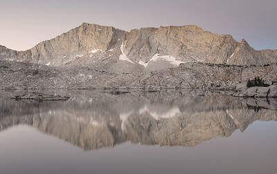 """Mount Hutton Reflected in """"Hell For Sure"""" Lake at Dawn"""