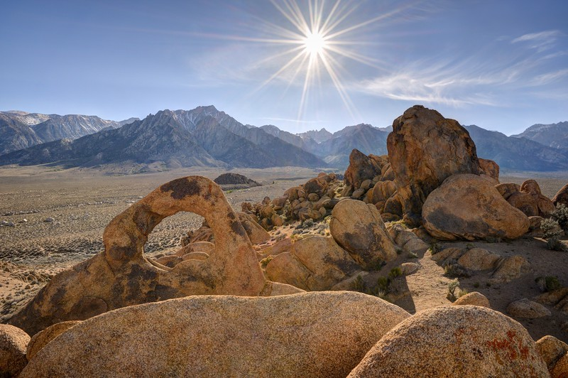 Whitney Portal Arch and the Eastern Sierra