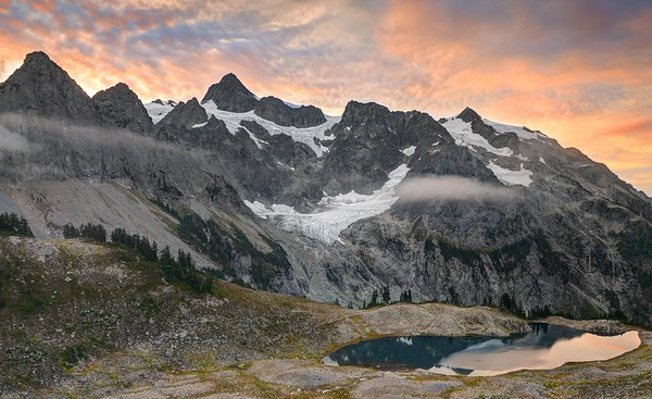Mount Shuksan and Lake Ann Sunrise
