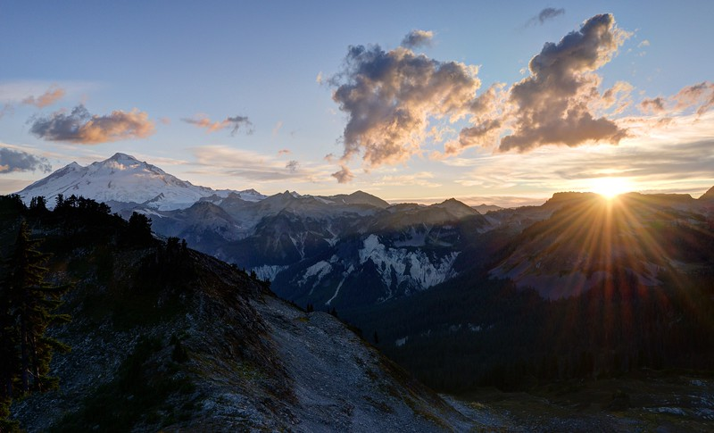 Sunset and Mount Baker