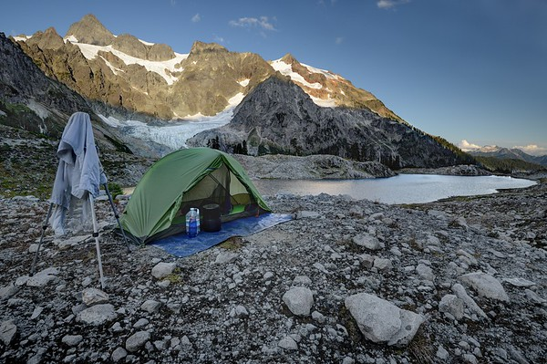 Camp at Lake Ann