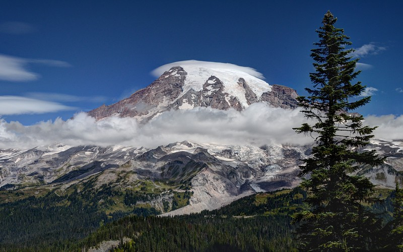 Mount Rainier from Near the Pinnacle Saddle
