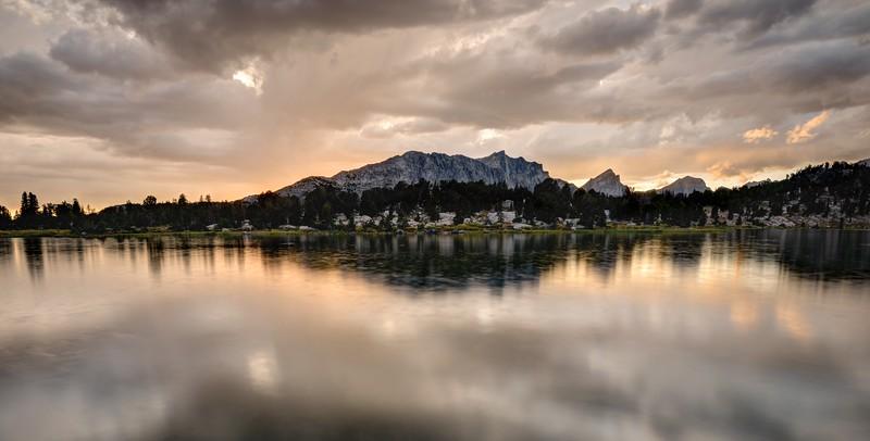 Mount Geikie and Skull Lake