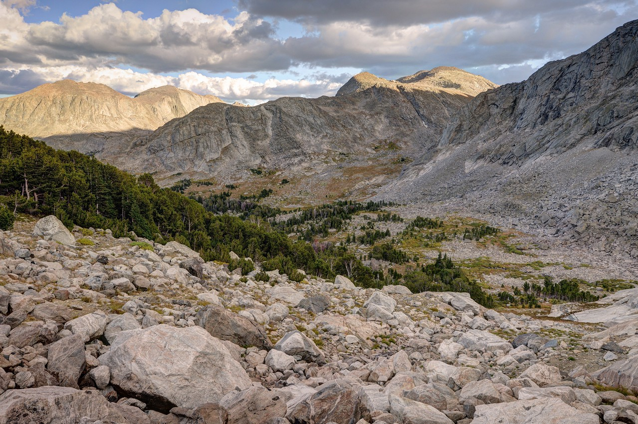 Looking Into the Hooker Creek Basin (Now where's my tent?)