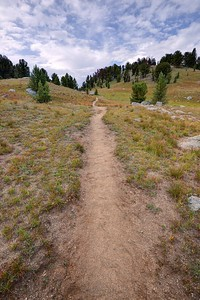 Hiking Along the Fremont Trail North of Washakie Creek