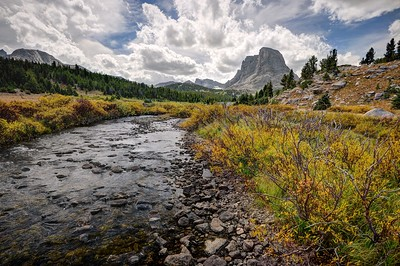 Buffalo Head and the Little Wind River