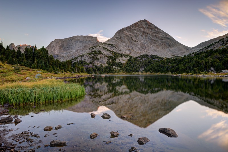 Mount Hooker and Pyramid Peak From Maes Lake