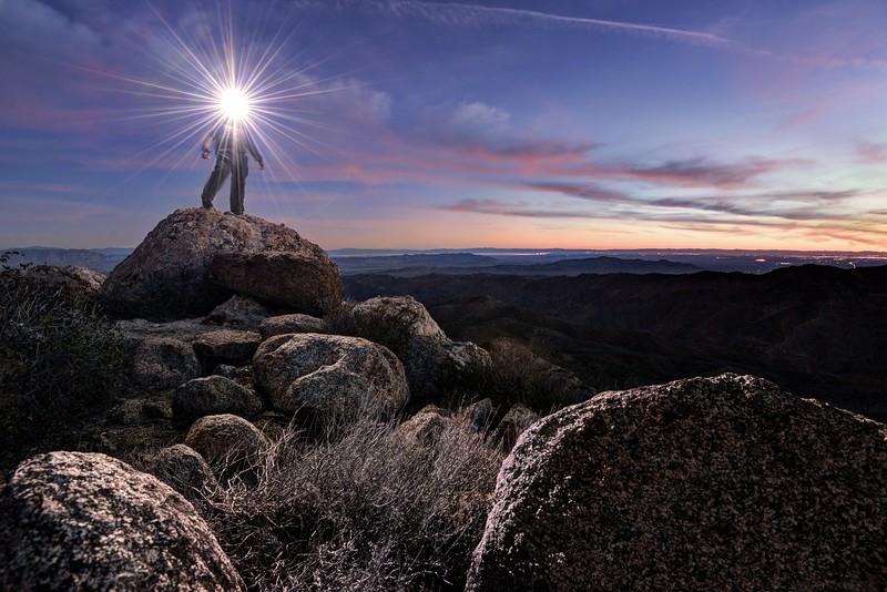 """""""Light Play II"""" on the summit of Mount Tule"""