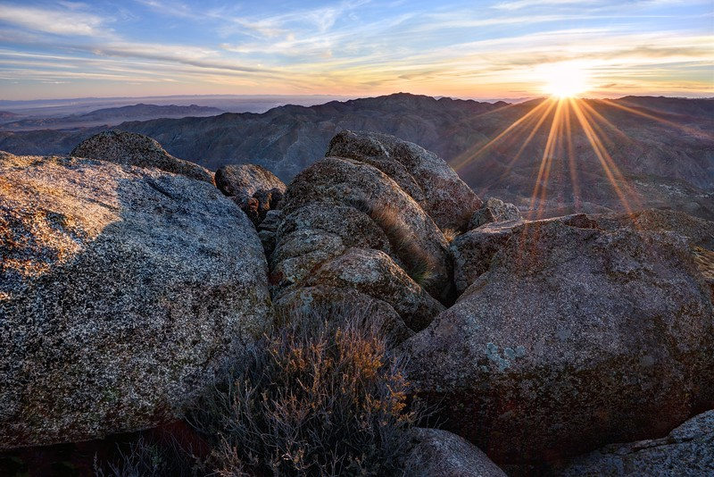 Sunrise over the Jacumba Mountains (from Mount Tule Summit)