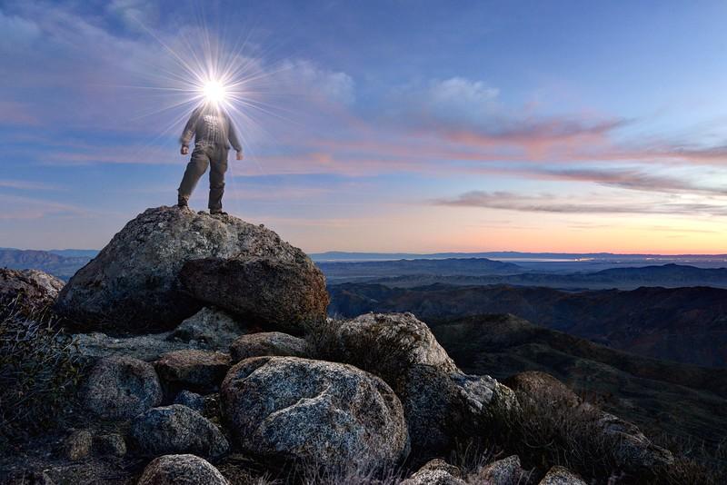 """Light Play"" on the summit of Mount Tule"