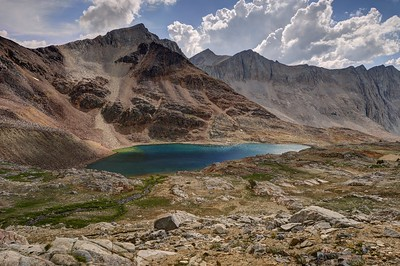 Mount Ickes and the High Lake Above Marjorie